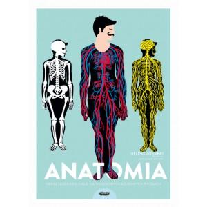 Anatomia Obraz ludzkiego ciała na ażurowych rycinach