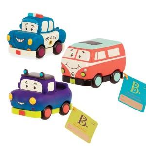 B. Toys Zestaw miękkich mini autek 3