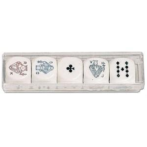 Kości do gry pokerowe 16 mm
