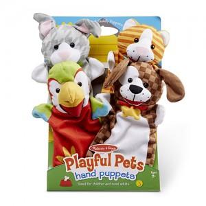 4 pacynki - zwierzęta pies