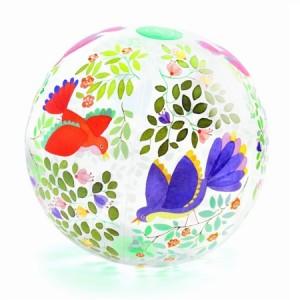 Dmuchana piłka Ptaki i kwiaty