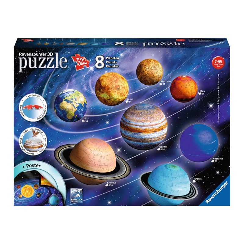 Puzzle 3D Układ słoneczny gry i zabawki edukacyjne w Venco.pl