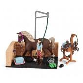 Schleich - Myjnia dla koni z Emily i Luną