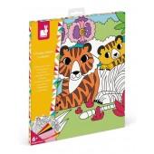 Kolorowanka Aksamitne karty - Tropikalna dżungla