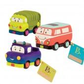 B. Toys Zestaw miękkich mini autek