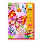 Zestaw artystyczny z brokatem Motyle