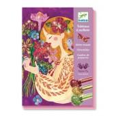 Zestaw artystyczny z brokatem Zapach kwiatów