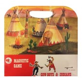 Układanka magnetyczna - Kowboje i indianie