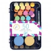 Zestaw farb gwaszowe 53 kolory