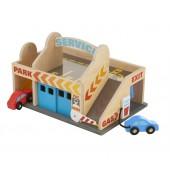Garaż z myjnią i autami
