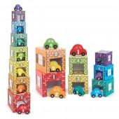 Wieża piramidka z autami