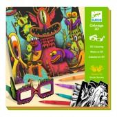 Kolorowanki 3D - śmieszne dziwaki
