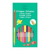 Dwustronne Kredki - 24 kolory