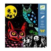 Kolorowanki welwetowe - Zwierzęta nocą