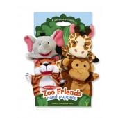 4 pacynki - zwierzęta zoo