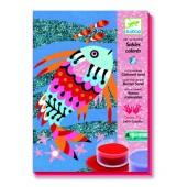 Zestaw artystyczny z brokatem Tęczowe rybki