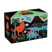 Puzzle świecące w ciemności - Dinozaury