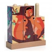 Drewniane klocki Puzz-up Rodzinki z lasu