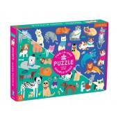 Puzzle dwustronne Psy i koty