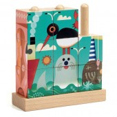 Drewniane klocki Puzz-up Morskie zwierzęta