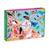 Puzzle dwustronne Robaki i Ptaki