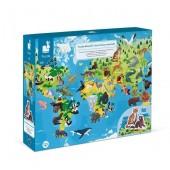 Puzzle z figurkami Zagrażone gatunki