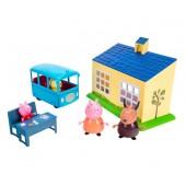 Świnka Peppa - Szkoła + autobus + 4 figurki