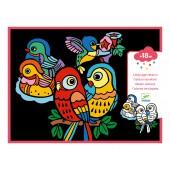 Kolorowanka welwetowa - Małe ptaszki