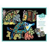 Kolorowanka welwetowa - Piękne rybki