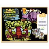 Kolorowanka welwetowa - Zwierzątka savanny