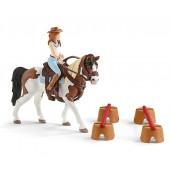 Schleich - zestaw do jazdy westernowej Hannah