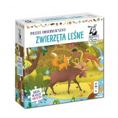 Puzzle obserwacyjne - Zwierzęta leśne